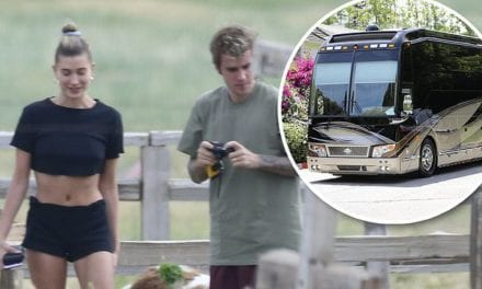 Glamping Bieber Style: Justin and Hailey relax in luxury RV on trip to Utah | Daily Mail Online