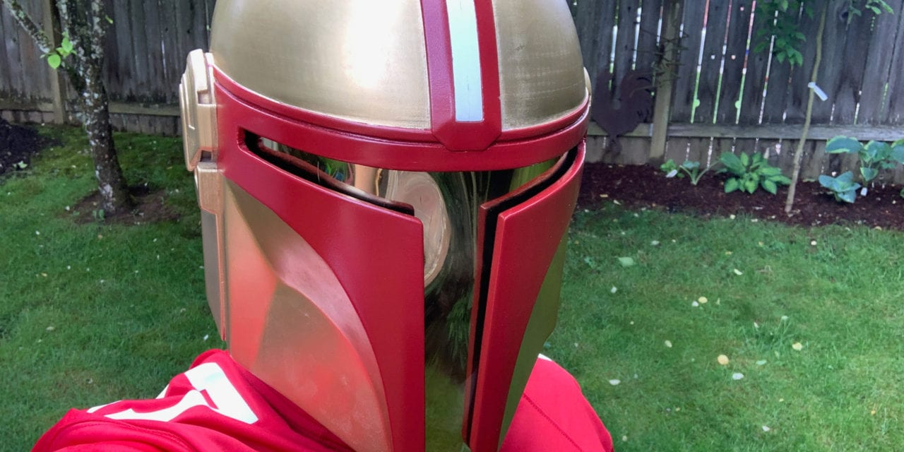 This is the Way: Follower makes 49ers-style 'Mandalorian' helmet