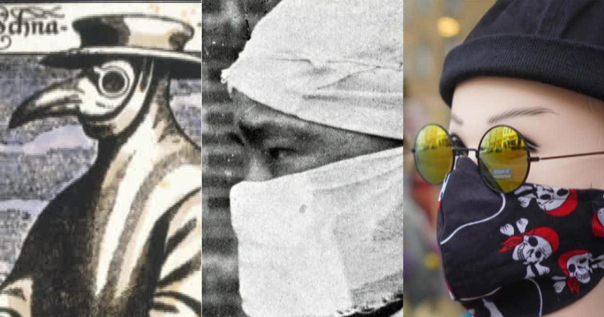 Facemasks through the ages, from medical aid to fashion statement – CBS News