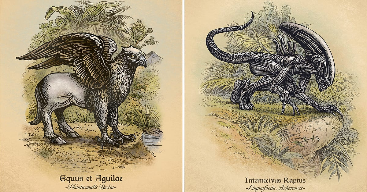 Pop Culture Icons Undergo Taxonomic Studies in These Vintage-Style Illustrations | Colossal