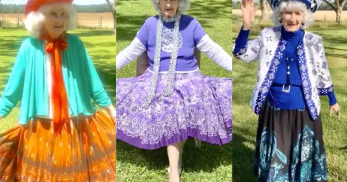 91-year-old woman stays busy by doing fashion shows during quarantine – CBS News