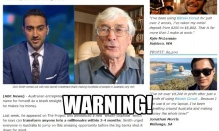 Warning over bitcoin scam using celebrities such as Dick Smith and Waleed Aly to 'endorse' product – ABC News