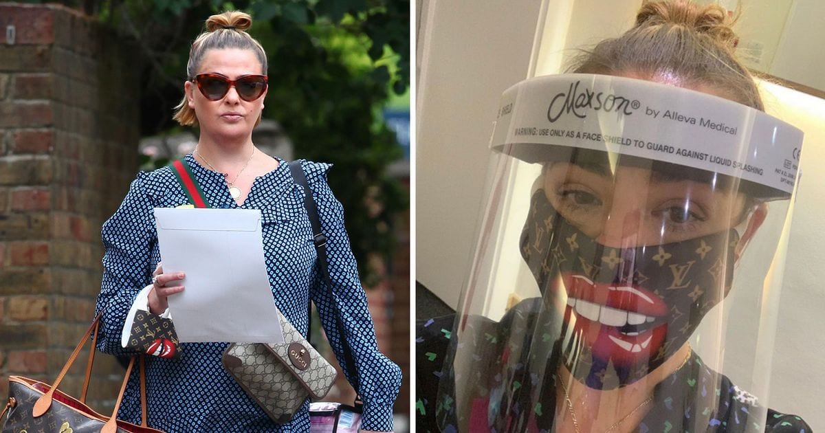 Lisa Armstrong heads back to work on TV in style wearing £4k designer bags and matching face mask – OK! Magazine