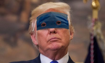 EXCLUSIVE! First pictures of Donald Trump in his 'Lone Ranger' style protective mask