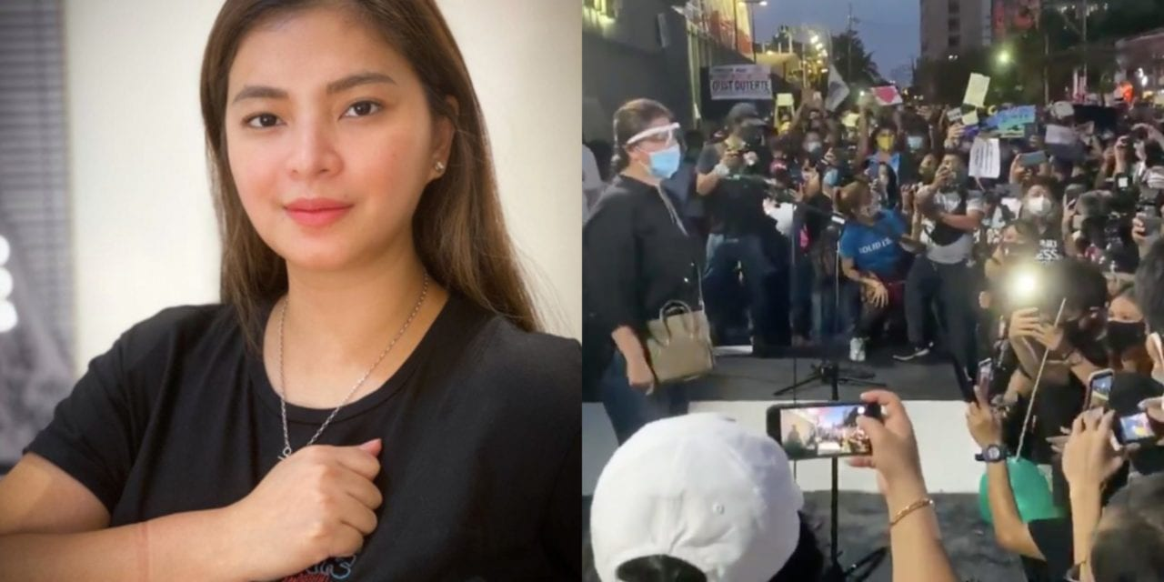 """ABS-CBN defender Angel Locsin urges the celebrities to speak: """"Magkaisa tayo at wag magpagamit!"""""""