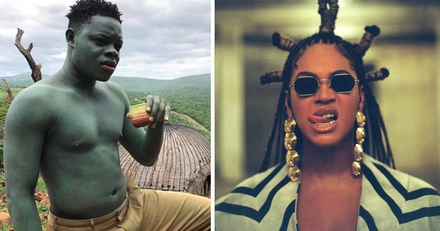 The Meaning Of The Blue Man In Beyonce's 'ALREADY' Video & More Interesting Facts About The Dancer | FashionGHANA.com: 100% African Fashion
