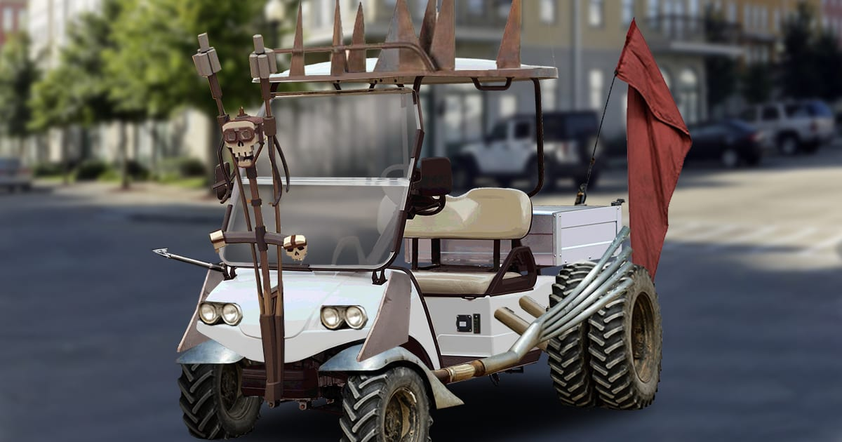 Mad Max-Style Golf Carts Deployed In River Ranch Ahead Of Possible ANTIFA Takeover