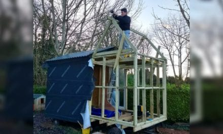 17-year-old builds his very own rustic style English tiny house for under $7,500 to stay debt-free