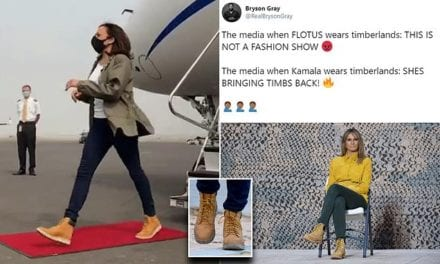 Kamala Harris slammed for 'copying' Melania Trump's style with Timberland boots | Daily Mail Online