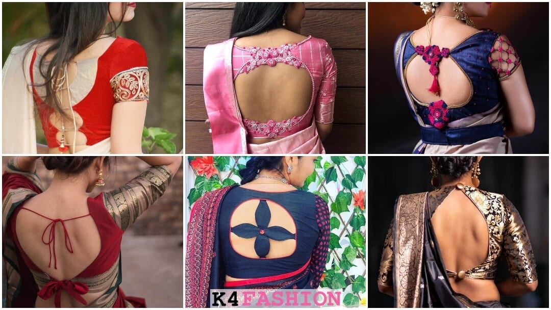Designer Blouse Back Neck Styles For Silk Sarees – K4 Fashion