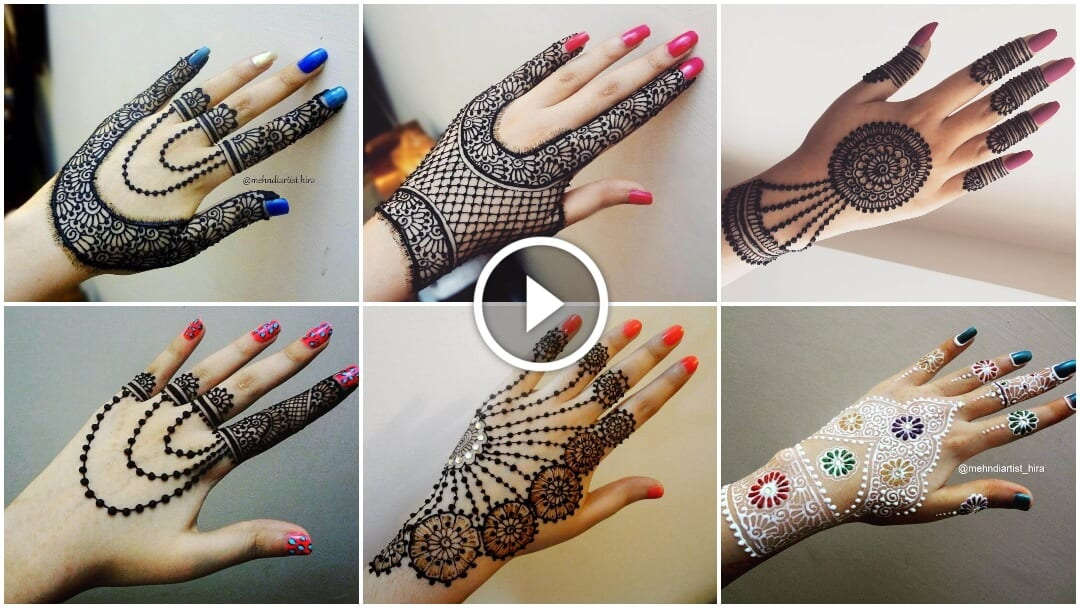 Simple Jewellery Inspired Mehndi Designs For Hand – K4 Fashion