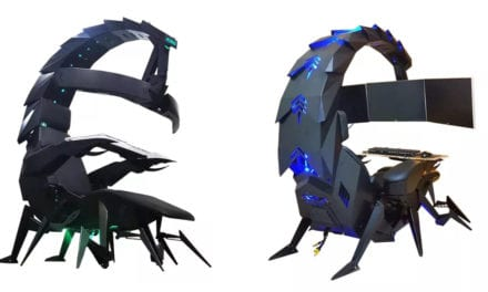 Scorpion-Style Video Gaming Chair Relocations Like an Arachnid