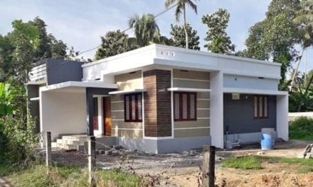 1000 Sq Ft 3BHK Contemporary Style Single-Storey House and Free Plan – Home Pictures