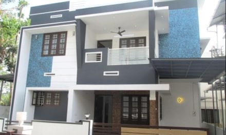 1500 Sq Ft 3BHK Contemporary Style Two-Storey House at 3 Cent Plot – Home Pictures