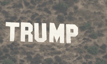 Hollywood-Style TRUMP Sign Put Up Over California's Major 405 Freeway