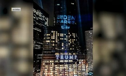 United Steelworkers Union Shines 'Batlight' Style Biden-Harris Logo on Trump Tower – NBC Chicago