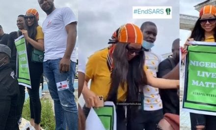 """It Is A Protest And Not A Fashion Show"" – Angry Fan Blasts BBNaija's Nengi After She Finally Joins #EndSARS Protest – YabaLeftOnline"