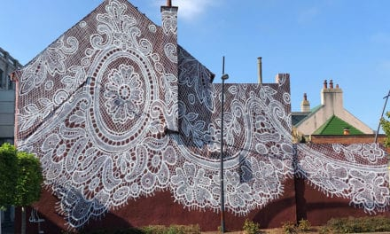 An Intricate Shoelace Mural Wraps Up the Exterior of a French Style Museum|Colossal