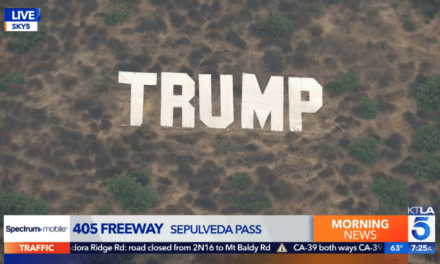Los Angeles dismantles pro-Trump Hollywood sign-style letters near highway
