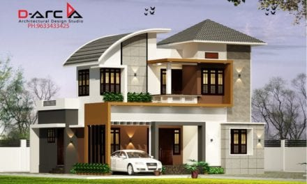 1375 Sq Ft 3BHK Contemporary Style Two-Storey House and Free Plan, 20 Lacks – Home Pictures