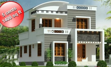1400 Sq Ft 3BHK Contemporary Style Double Floor House and Free Plan – Home Pictures