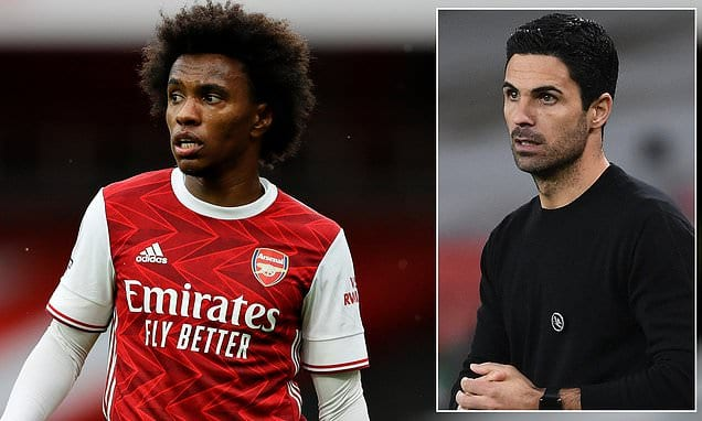 Willian admits Mikel Arteta's strategies have left him 'frustrated' as he adapts to brand-new style of play|Daily Mail Online