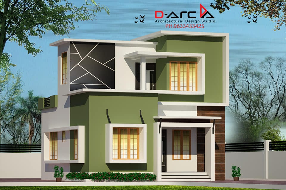 935 Sq Ft 3BHK Contemporary Style Two-Storey House and Free Plan, 13 Lacks – Home Pictures