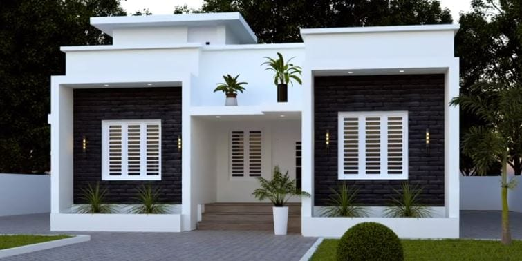 995 Sq Ft 3BHK Contemporary Style Single Floor House and Free Plan – Home Pictures