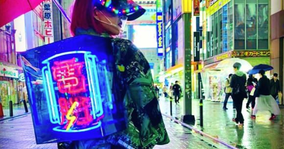 Cyberpunk kimono fashion hits the streets of Akihabara, complete with neon sign obi【Photos】 | SoraNews24 -Japan News-