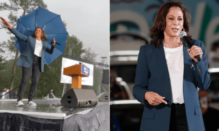 Kamala Harris Dances in the Rain Wearing Converse Sneakers | POPSUGAR Fashion