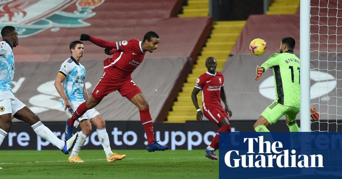 Liverpool turn on style against Wolves as 2,000 fans return to Anfield | Football | The Guardian