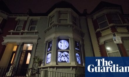 'It brings cheer after a rubbish year': advent windows light up UK streets | Life and style | The Guardian