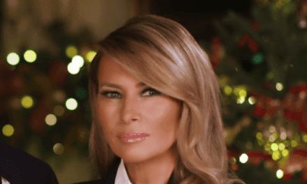Fashion Notes: Melania Trump Wishes Americans a Merry Christmas in Bold McQueen