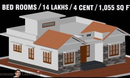 1055 Sq Ft 3BHK Traditional Style House and Free Plan, 14 Lacks – Home Pictures