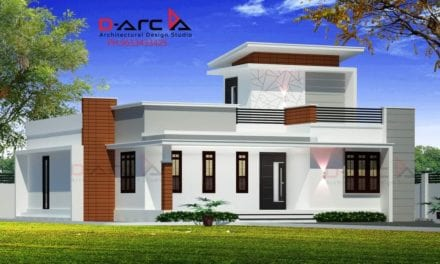 1235 Sq Ft 2BHK Contemporary Style Single Floor House and Free Plan, 20 Lacks – Home Pictures