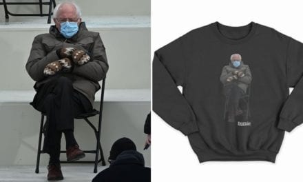Shop Bernie Sanders Inauguration Meme Sweatshirt For Charity | POPSUGAR Fashion