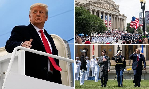 Pentagon denies Donald Trump's request for a military-style farewell parade  | Daily Mail Online