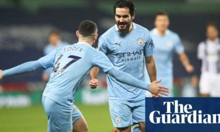 Manchester City go top after Gündogan turns on style in 5-0 rout of West Brom | Football | The Guardian