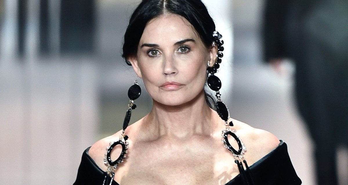 Demi Moore hits the Fendi runway at Paris Fashion Week