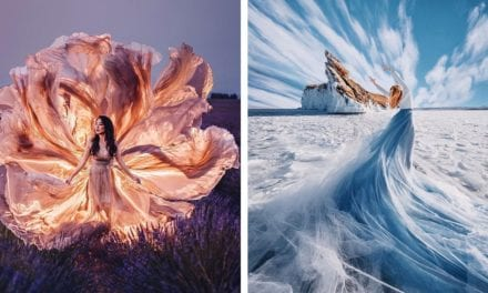 Flowing Fashion Gowns Are Perfectly Complemented by Beautiful Backdrops