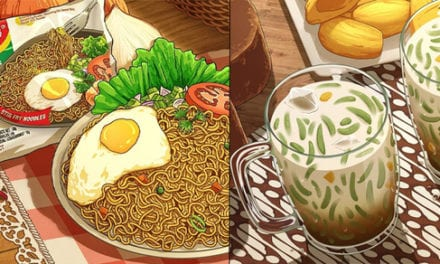 [PHOTOS] Guy Turns Food Like Indomie And Cendol Into Studio Ghibli Style Illustrations