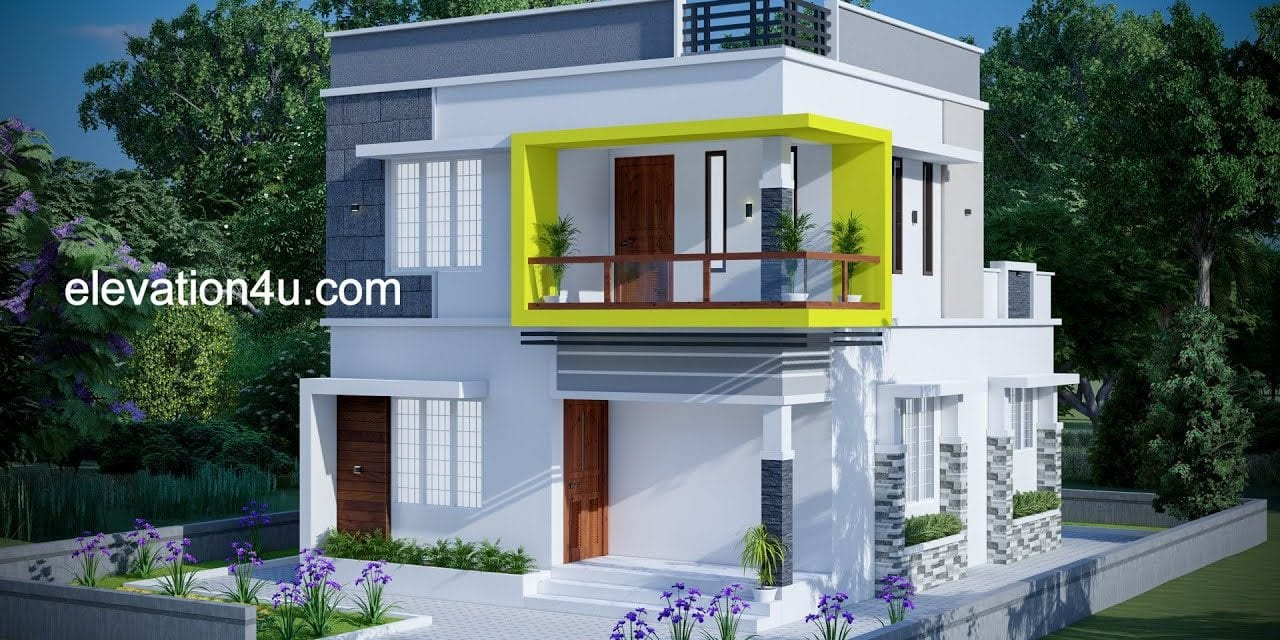 1258 Sq Ft 3BHK Contemporary Style Two-Storey House and Free Plan – Home Pictures