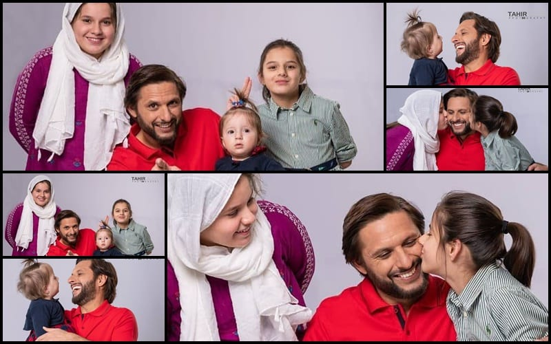Shahid Afridi With His Daughter In Latest Photoshoot – Health Fashion