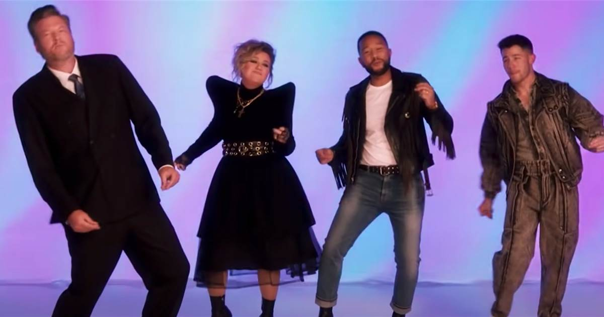 'The Voice' coaches drop '80s-style music video to celebrate 20 seasons