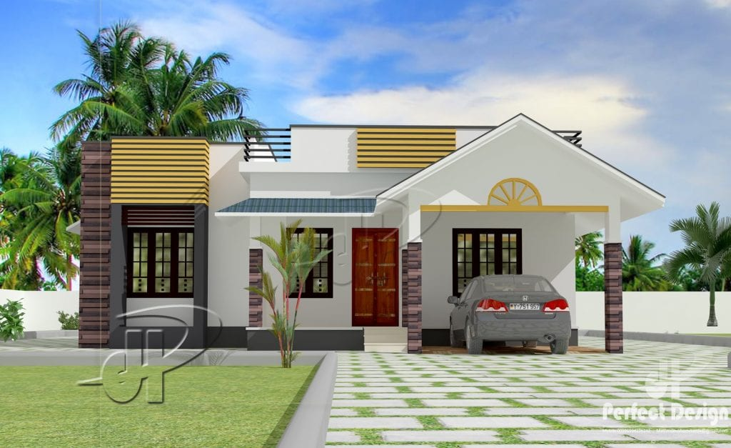 1087 Sq Ft 3BHK Traditional Style Single Floor House and Free Plan – Home Pictures