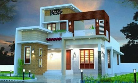 1410 Sq Ft 3BHK Contemporary Style Two-Storey House and Free Plan – Home Pictures