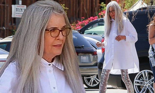 Diane Keaton is as kooky a style icon as ever filming Mack And Rita in Palm Springs | Daily Mail Online