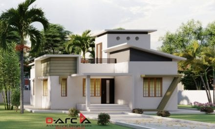 835 Sq Ft 2BHK Contemporary Style House and Free Plan, 15 Lacks – Home Pictures