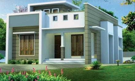 950 Sq Ft 2BHK Contemporary Style Single-Storey House and Free Plan – Home Pictures