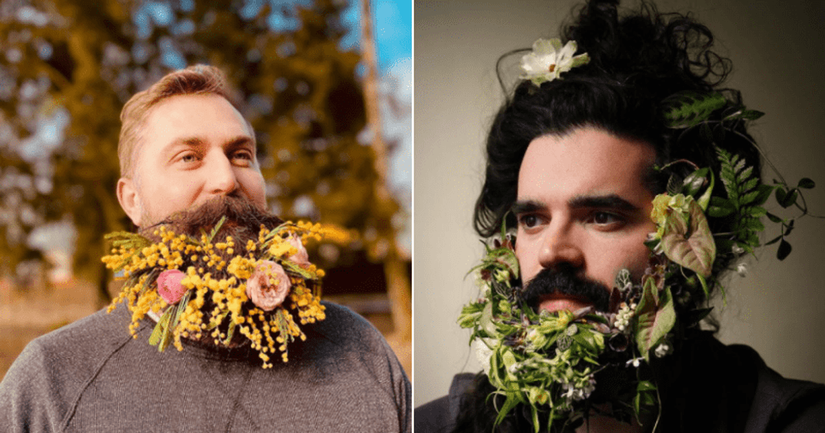 Men Are Now Turning Their Beards Into Bouquets In New Fashion Trend